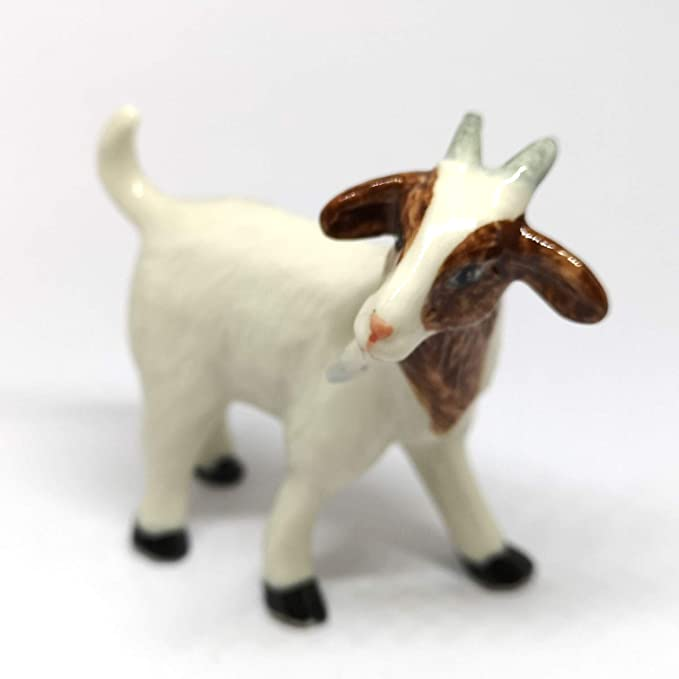 GOAT White animal HAND PAINTED MINIATURE resin FIGURINE small mini COLLECTIBLE