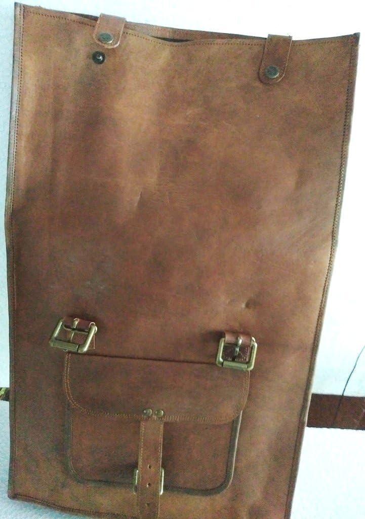 IHV Sac /à dos vintage en cuir en bandouli/ère pour homme talle M Marron marron moyen