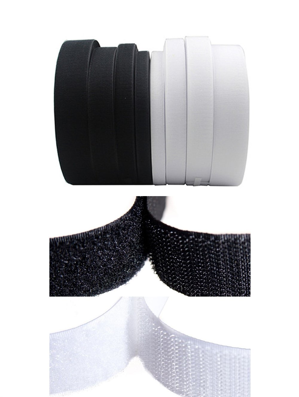 Rouleau de ruban scratch à coudre non-adhésif - Ruban magique en nylon - Outils de décoration 30MM x 2Meters Noir