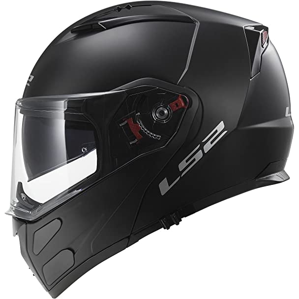 Amazon.com: LS2 Helmets Metro Solid Modular Motorcycle Helmet with Sunshield (Matte Black, XX-Large): Automotive