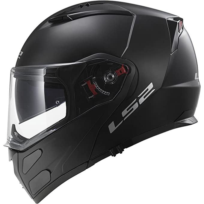 Amazon.com: LS2 Helmets Metro Solid Modular Motorcycle Helmet with Sunshield (Matte Black, XX-Large): Automotive