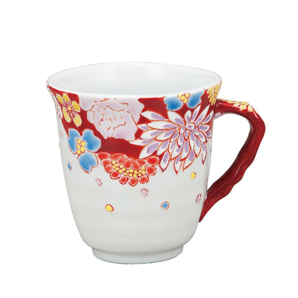 Kutani Yaki(ware) Coffee Mug Flower