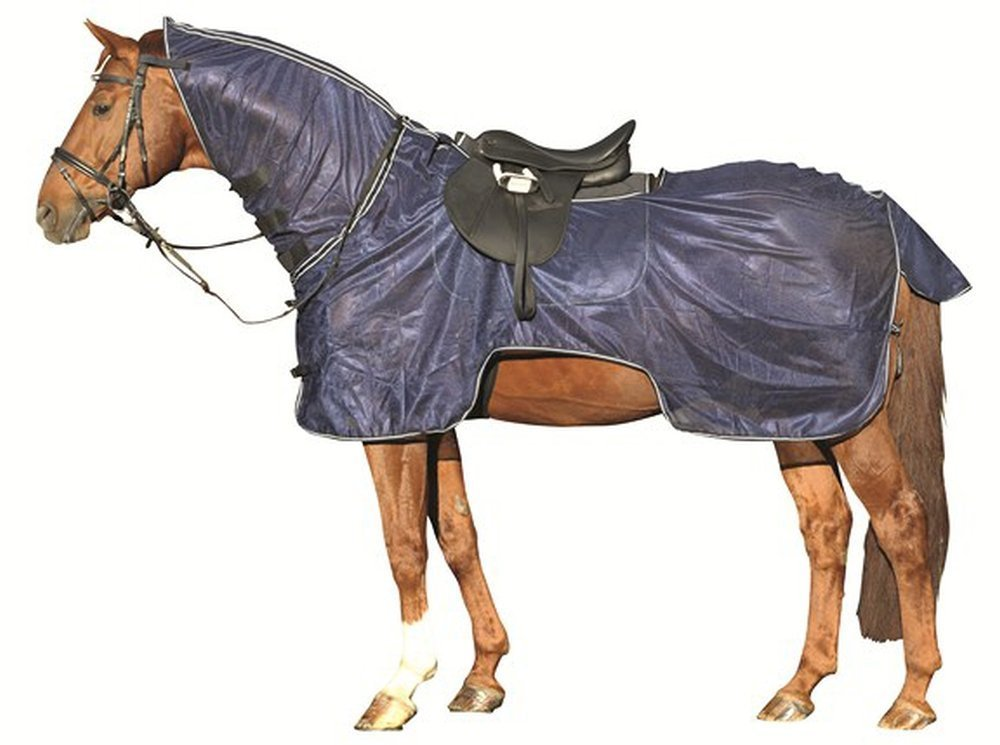HKM Lightweight Fly Ride On Sheet Rug Combo Predect from Flies Insect 5'3-7'3 (7'3)