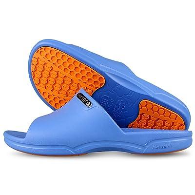 Stico Men's Slip Resistant Chef Shoes, Professional Non-Slip Work Slippers for Restaurant Hospital Nursing Garden: Shoes