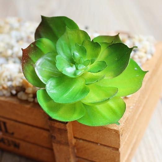 Tablar Mini Plantas suculentas Artificiales suculentas Tierra Loto Micro Paisaje para jardín decoración de la Oficina en casa de plástico suculenta 7: Amazon.es: Hogar