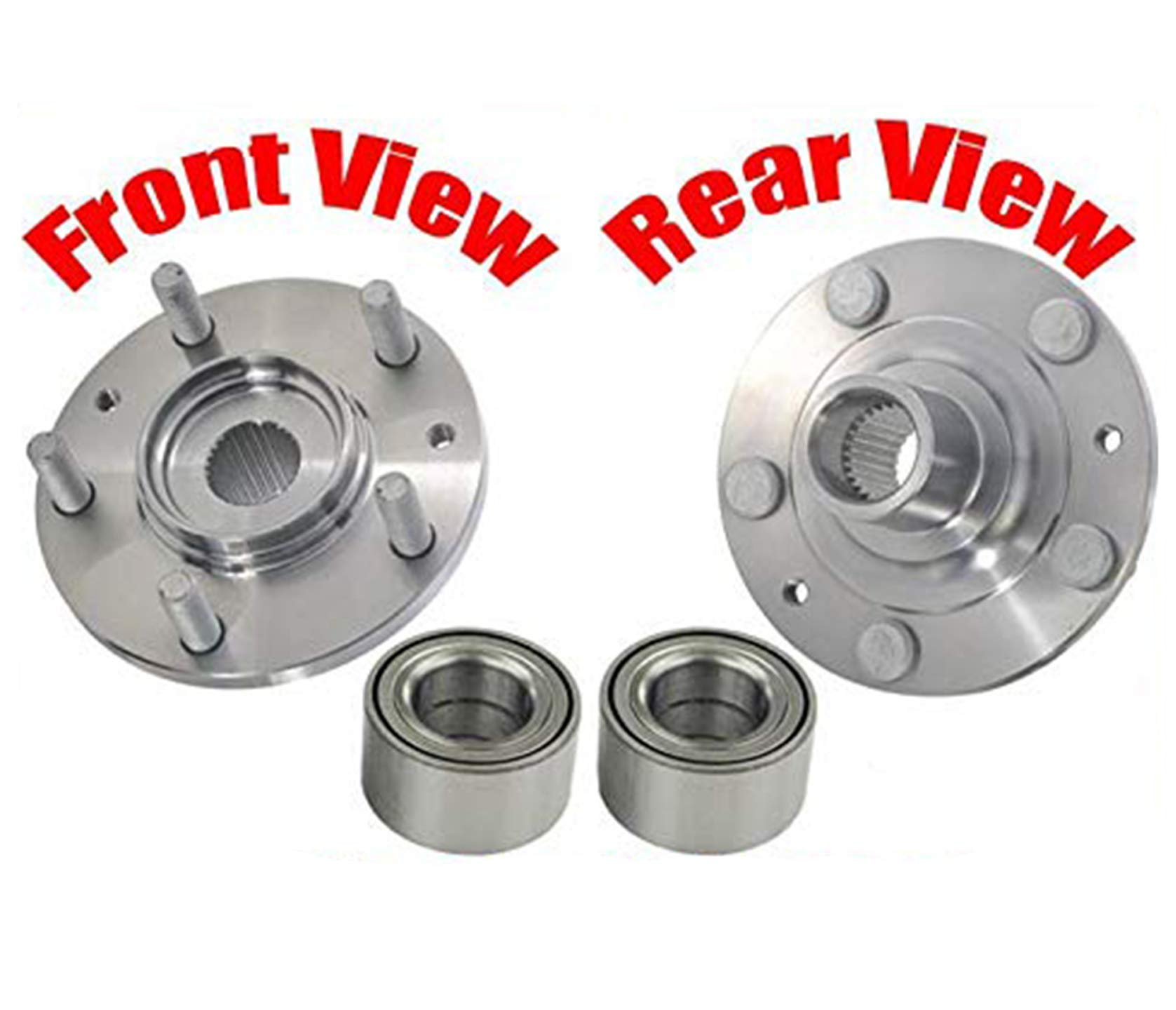100% New Wheel Hub & Bearing Torque Tested New for Mazda 6 03-13 Front by Mac Auto Parts