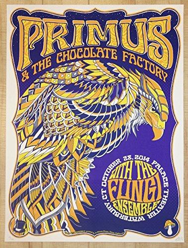 2014 Primus - Waterbury Silkscreen Concert Poster by - Waterbury Stores
