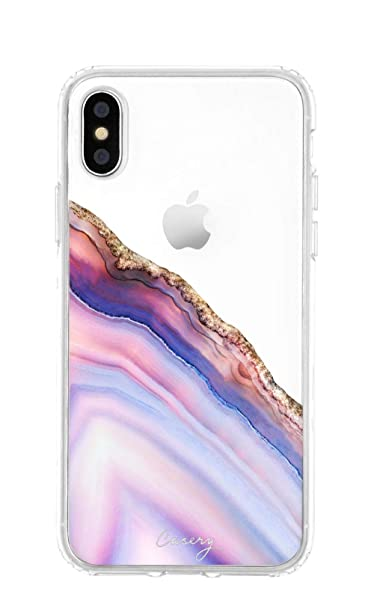 new product f6d53 50550 Casery Case Designed for The iPhone, Pink & Blue Agate (Exotic Marble) -  Military Grade Protection - Drop Tested - Protective Slim Clear Case for ...