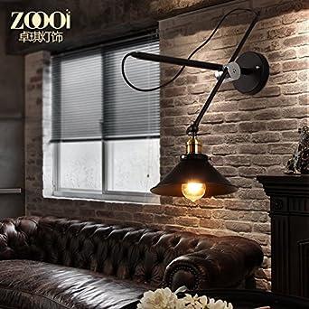 Schwenkarm Lampe Einstellbar Vintage Industrial Wind Club House Bar Amerikanische Wohnzimmer Schlafzimmer Nachttischlampen Persnlichkeit Ideen Aktivitt