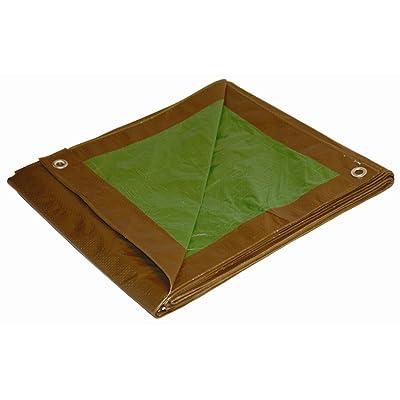 6x8 Multi-Purpose Brown/Green Economy Poly Tarp (6'x8')