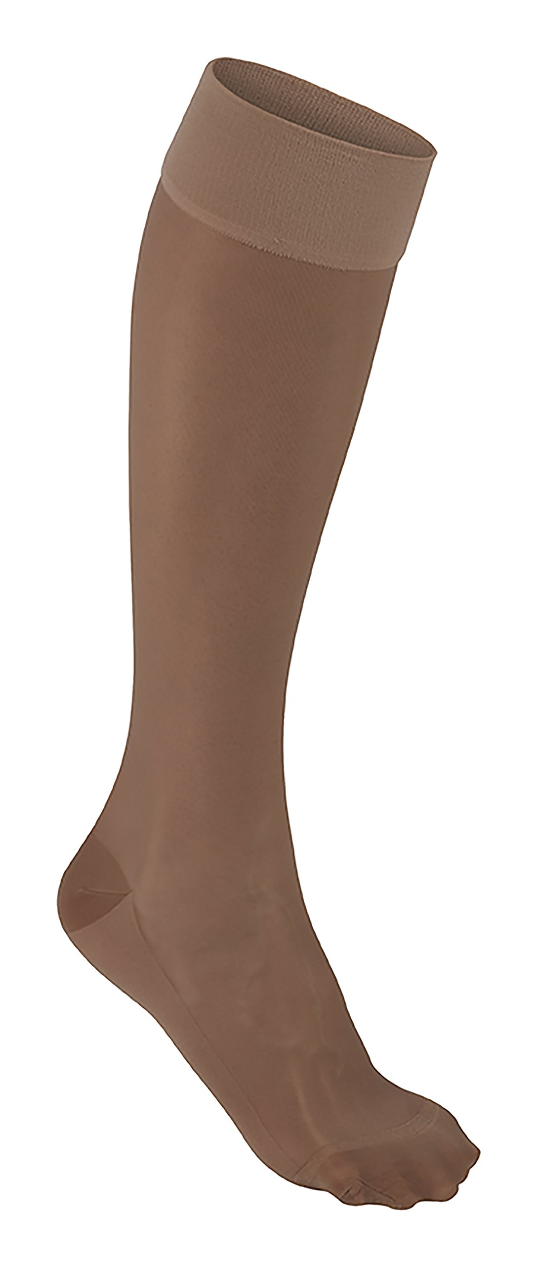 Futuro Revitalizing Ultra Sheer Knee Highs for Women, Large, Nude, Moderate Compression