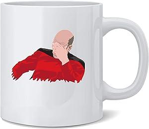 Poster Foundry Captain Jean Luc Facepalm Funny SciFi Ceramic Coffee Mug Tea Cup Fun Novelty Gift 12 oz
