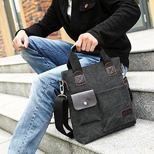 del 26 31cm Hombro Mensajero La De Asas Maletín Blue Bolso Cruzado La Los De De Lona 9 Bolsa Simple Simple del del Negocio Hombres Bolsa Black De La aPFZqw6S