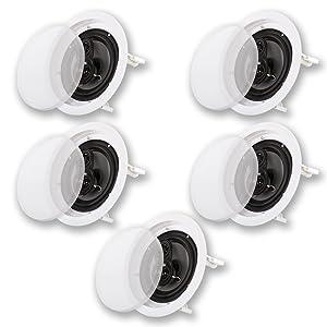 "Acoustic Audio CS-IC63 in Ceiling 6.5"" Home Theater 5 Speaker Set 3 Way 1500 Watt CS-IC63-5S"