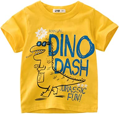 1 Pc Kids Boys Girls Cartoon Print T-Shirt For Summer Infant Shirts Clothes