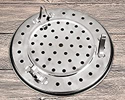 Stainless Steel Chinese Steaming Rack for Instant Pot Pressure Cooker DSstyles Steam Tray Round 8.5 Inches Steamer Rack with Removable Legs Instant Pot Accessories Multi-functional Steamer Basket