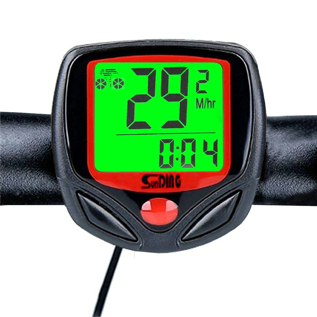 Wolfride® Outdoor Sport Wired Bike Computer Bicycle Odometer Speed Meter Backlight with 23 Functions