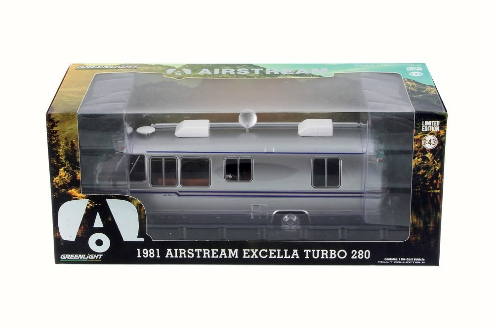 Amazon.com: 1981 Airstream Excella Turbo 280, Silver - Greenlight 86312 - 1/43 Scale Diecast Model Toy Car: Toys & Games