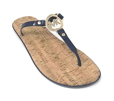 c93cf261139c Michael Kors MK Charm Jelly Flip Flop Cork Bottom