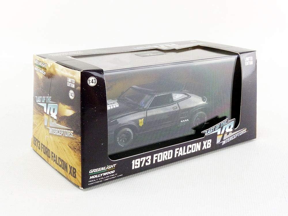 1 Black 86522 -1973 Ford Falcon XB Greenlight 1:43 Last of The V8 Interceptors 1979