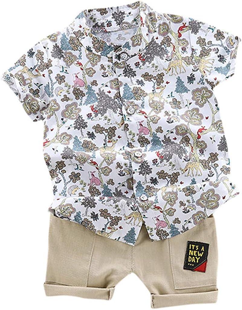 TTLOVE Jungen M/ädchen Bekleidungssets Kinder Cartoon Auto Druck Kurzarm T-Shirt Tops Baby Sommer Kleidung Jungen Shorts Outfit Set Kleinkind 1-5 Jahre Kleidung