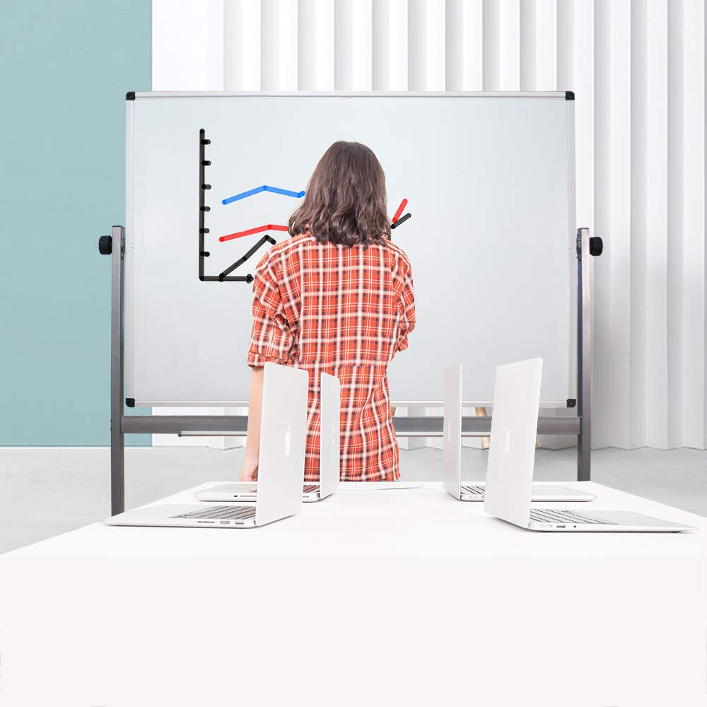 Mobile Dry Erase Board, Double Sided Magnetic 