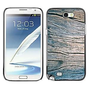 X-ray Impreso colorido protector duro espalda Funda piel de Shell para SAMSUNG Galaxy Note 2 II / N7100 - Grain Blue Summer Pier Texture