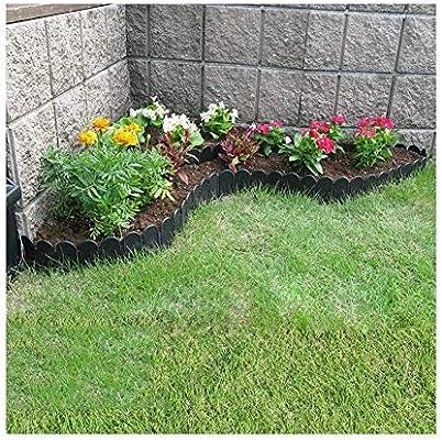 YINUO Cercos Jardín Poste de la Cerca Pantalla Flores Piscina Borde fácil de Instalar Cut Off