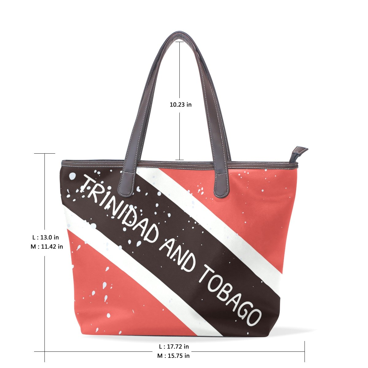 Distressed Trinidad And Tobago Flag Womens Fashion Large Shoulder Bag Handbag Tote Purse for Lady