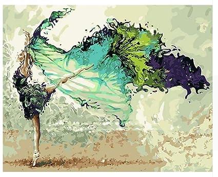 Diy Malen Nach Zahlen Abstrakte Tänzerin Figur Malerei Acryl