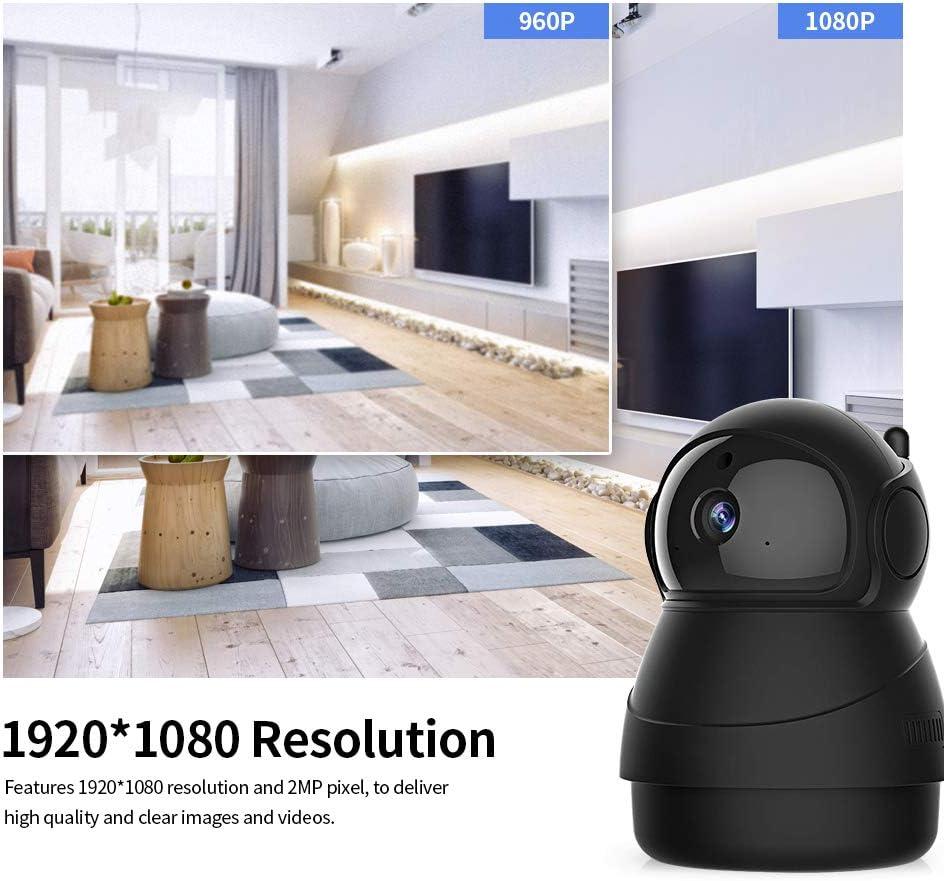 1080P 2MP WiFi Wireless-/Überwachungskamera Bewegungserkennung Nachtsicht f/ür den Innenbereich 9 IR-LEDs Telefonsteuerung 2-Wege-Audio-TF-Kartensteckplatz OWSOO Smart PTZ IP-Kameras 1920
