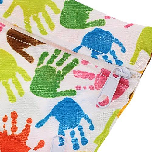 MagiDeal Baby Kleinkind Wasserdichtem Reißverschluss wiederverwendbare Stoff Windel Tasche - Stil 9 Stil 3