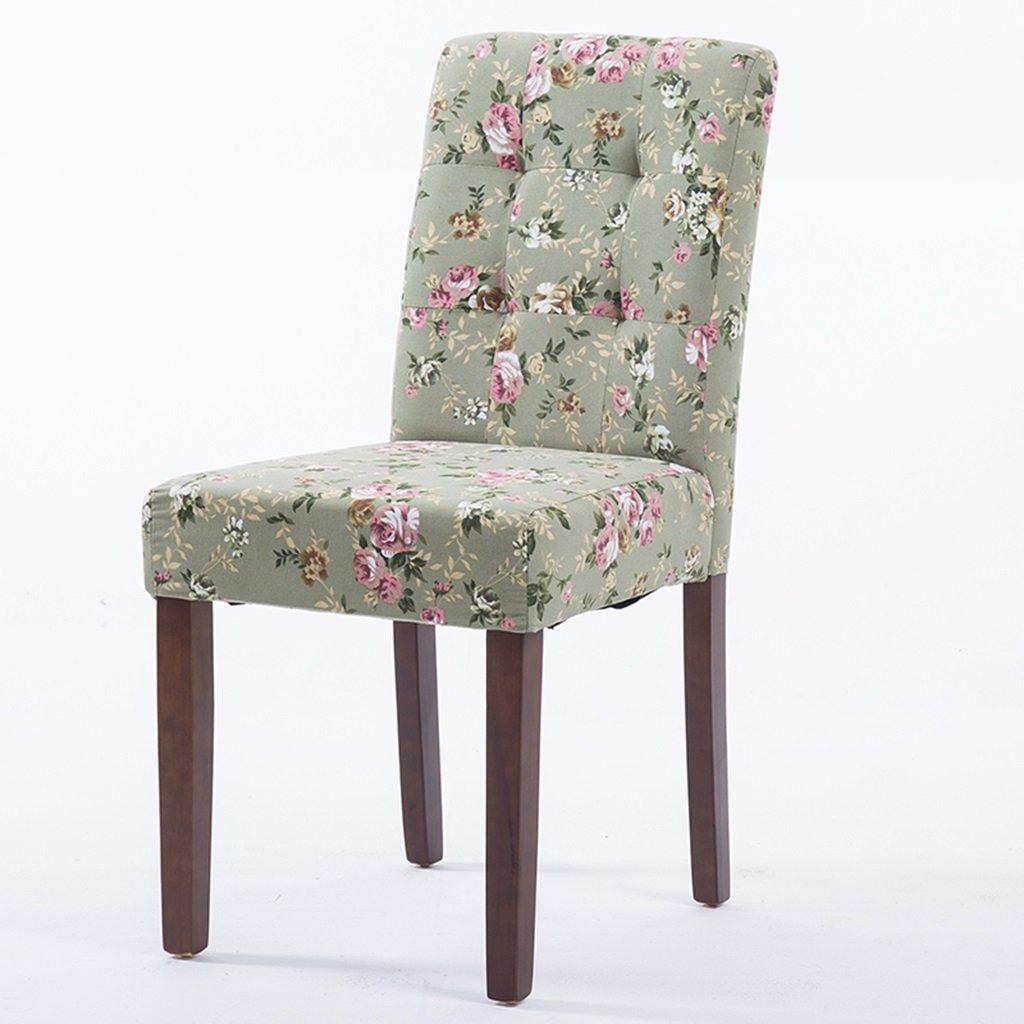 ファブリッククッションとウッドレッグ付きグリーンキッチンチェア、4つのセット、コーヒールームラウンジ屋内ダイニングルーム布張りの椅子 (色 : Style-1, サイズ さいず : Set of 4) B07DYNPG76 Set of 4|Style-1 Style-1 Set of 4