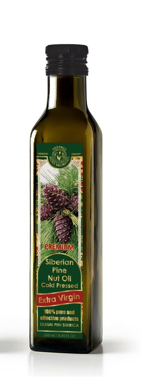 Siberian Pine Nut Oil Cold Pressed Extra Virgin 8.45 fl oz/250 ml by Flora Aromatics