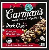 Carman's Dark Choc Cherry & Coconut Bars, 6 Bars per Pack, Gluten Free
