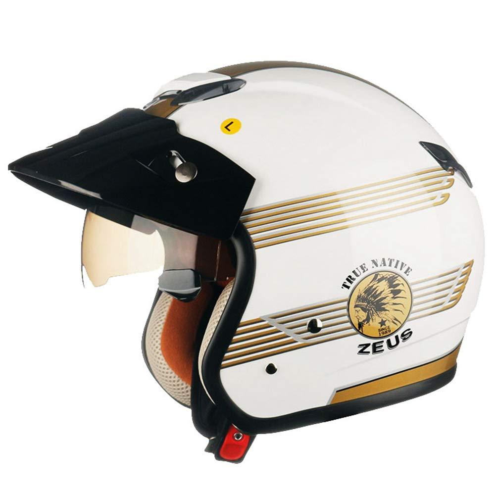 Amazon.es: Cascos de Motocross de Cara Abierta Retro con Sol ...