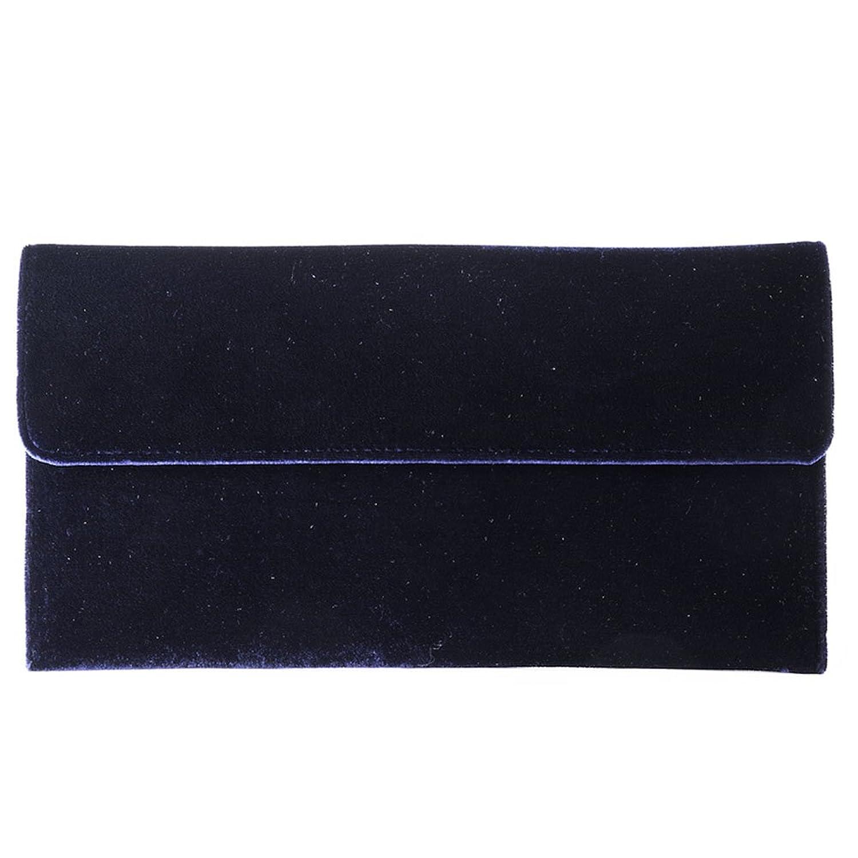 Clutch bag, Clorinda?blue,?Velour, Dimensions in cm: 32 l x 17 h x 3 p, Anna Cecere