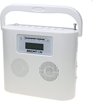 Brigmton W-407 - Radio CD / USB Compacto - Red y Pilas - Blanco