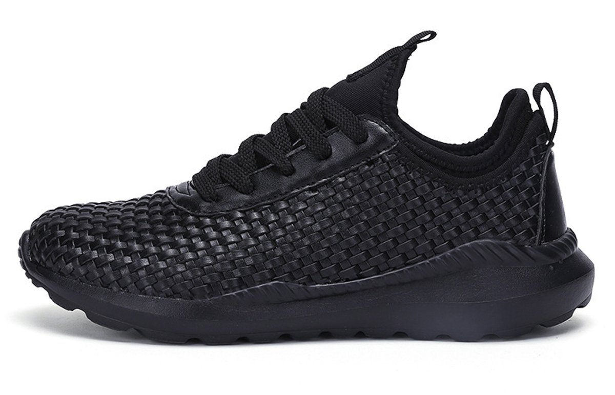 Mens Comfy Knit Stretchy Fabric Breathable Sneakers Casual Athletic Lightweight Walking Shoes B075T24SQ6 11.5 D(M) US|Black