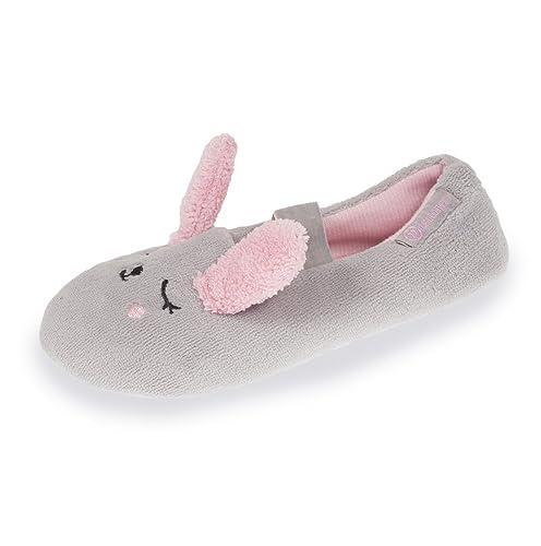 Isotoner Zapatillas Bailarinas niña Conejo 3D, Gris (Gris), 33/34 EU: Amazon.es: Zapatos y complementos