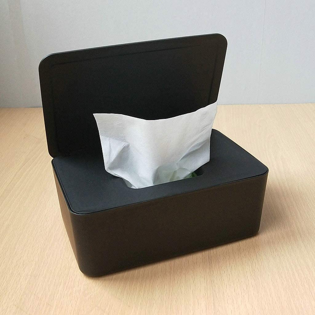 haoyuestory con coperchio colore: nero Scatola per salviette umide