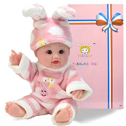 Amazon Com 12 Inches Toy Baby Dolls For Kind And Boy Pink Rabbit