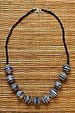 Fair Trade Asali Necklace - Blue - BeadforLife Paper Jewelry from Uganda