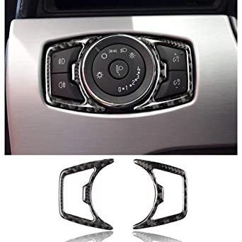 ABS Carbon Fiber One-Button Start Switch Cover Trim For Ford Explorer 2016-2019