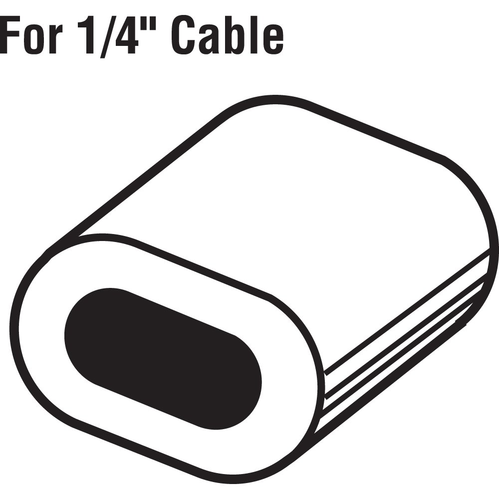 Cable Ferrules Pack of 20 1//4 Jensen Extruded Aluminum 1//4 Home Improvement GD12180