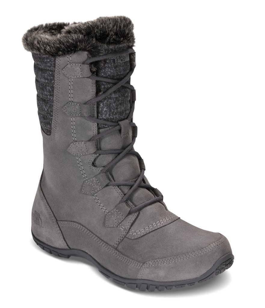 The North Face Womens Nuptse Purna II Boot - Frost Grey/Iron Gate Grey - 10.5