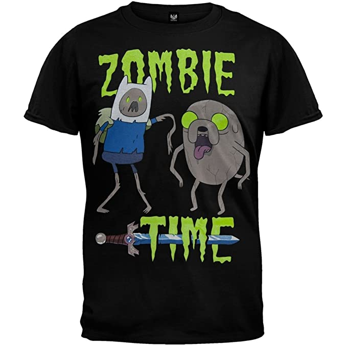 Amazon Com Adventure Time Zombie Time T Shirt Medium Clothing