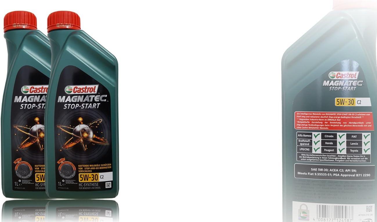 2x 1 L 2 Liter Castrol Magnatec 5w 30 C2 Motor Öl Motoren Öl Spezifikationen Freigaben Acea C2 Psa Freigabe B71 2290 Meets Fiat 9 55535 S1 Auto