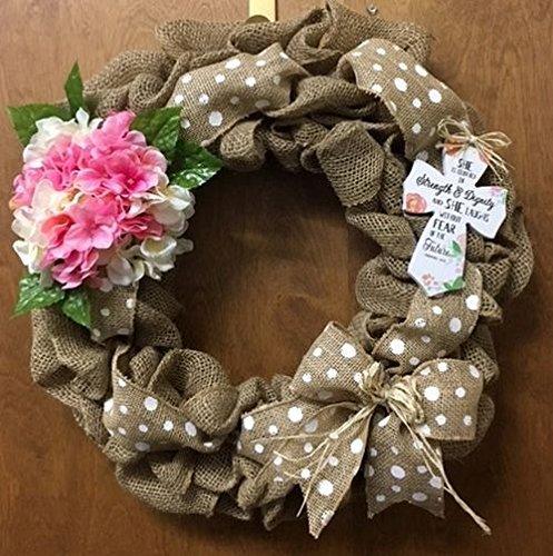 Amazon Com Easter Spring Religious Door Burlap Wreath She Is