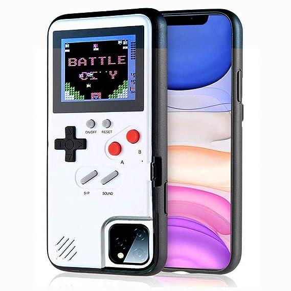 iPhone用ゲームコンソールケース、Dikkar 36小ゲーム、フルカラーディスプレイ、iPhone X/Xs/MAX/Xr / 6/7/8用ゲームケース(ホワイト、iPhone XR) (ホワイト, iPhone 11)